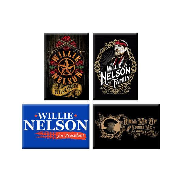 Willie Nelson Magnet Set
