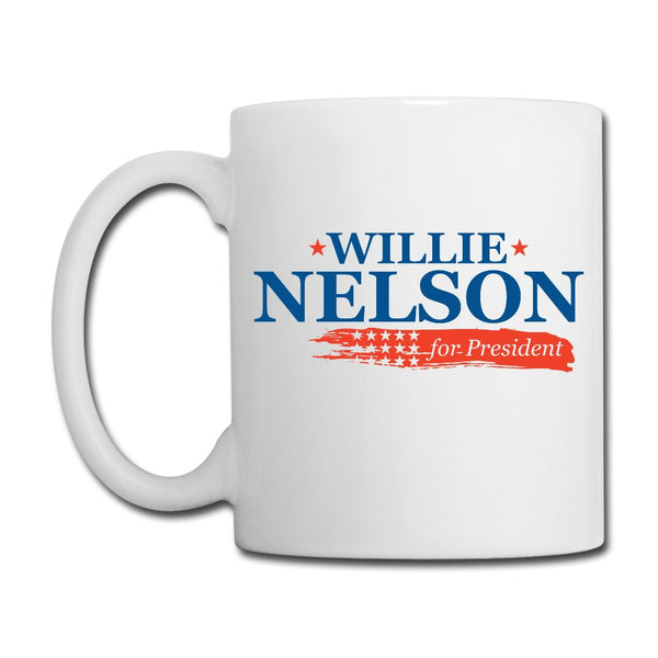 Willie for President White Mug