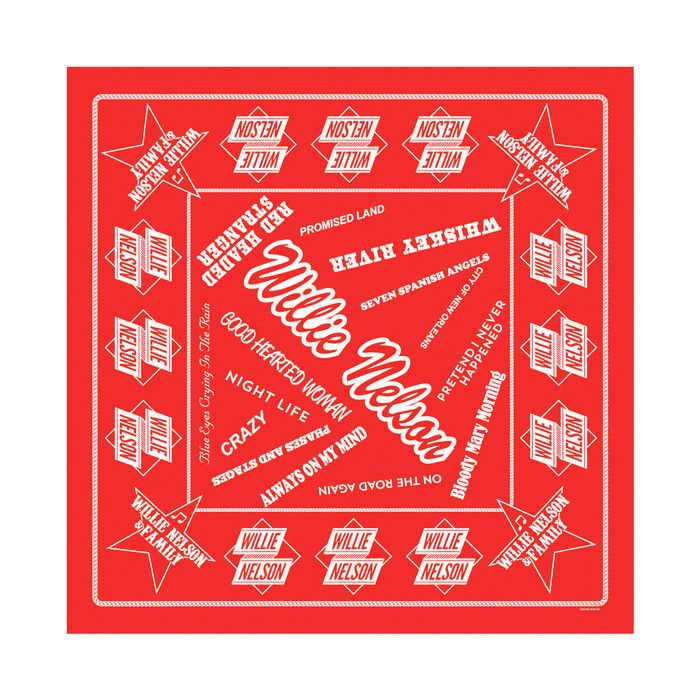 Premium Willie Nelson Songs Bandana