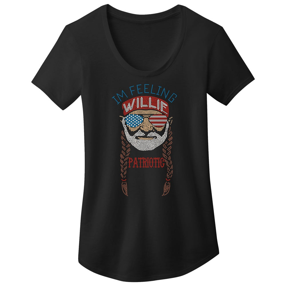 I'm Feeling Willie Patriotic Easy Scoop Tee