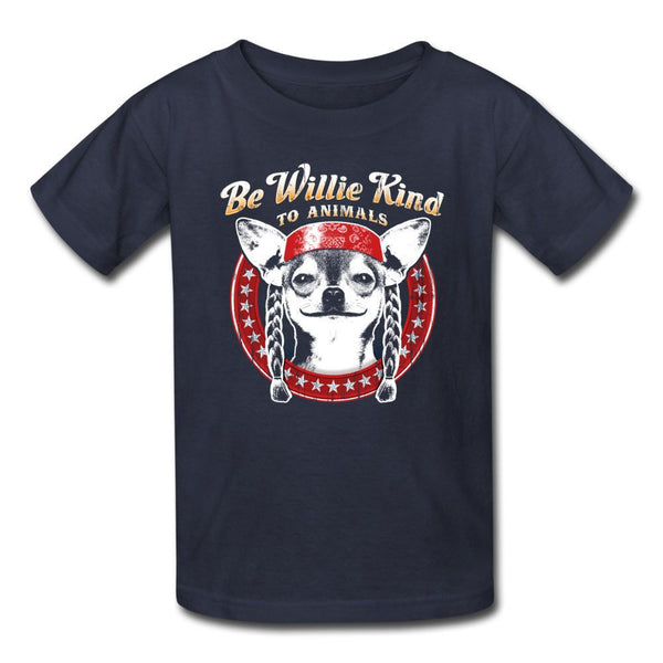 Be Willie Kind to Animals Kids Tee