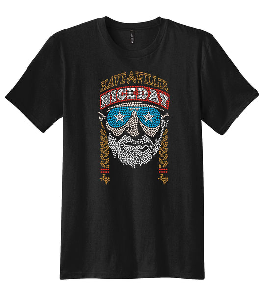 HAVE A WILLIE NICE DAY - OFFICIAL WILLIE NELSON STAR GLASSES UNISEX TEE