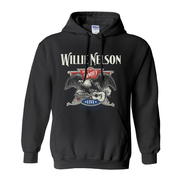 Willie Nelson Live Eagle Hoodie