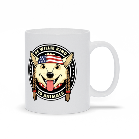 Be Willie Nice to Animals 11oz White Mug