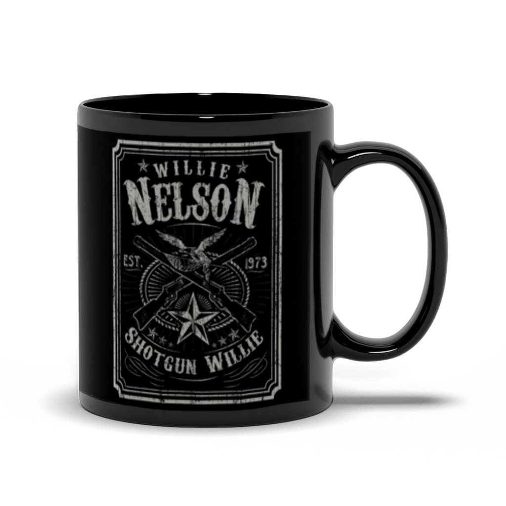 Shotgun Willie 11oz Black Mug