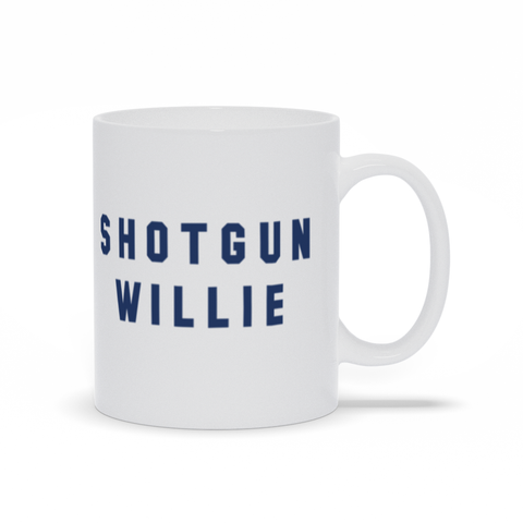 Shotgun Willie 11oz White Mug