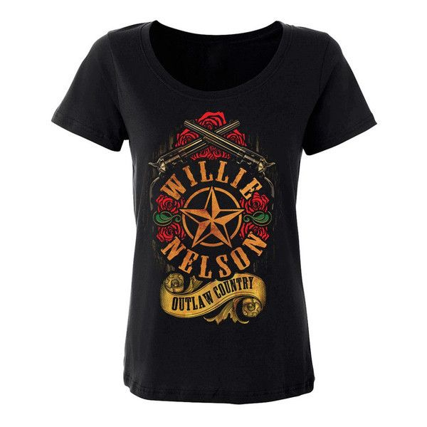 Outlaw Country Rose Tee