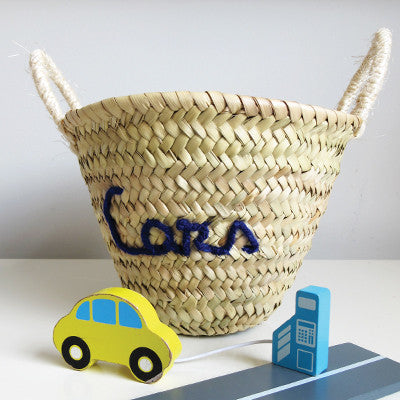 Embroidered 'Cars' Mini Basket