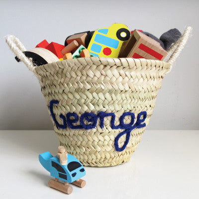 Personalised Embroidered Mini Basket