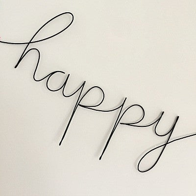 'Happy' Wire Word