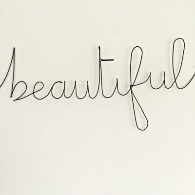 'Beautiful' Wire Word