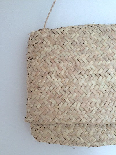 Straw Basket Clutch
