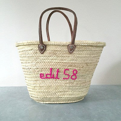 Personalised Embroidered Beach/Market Basket