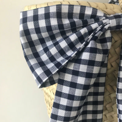 Gingham Bow Basket
