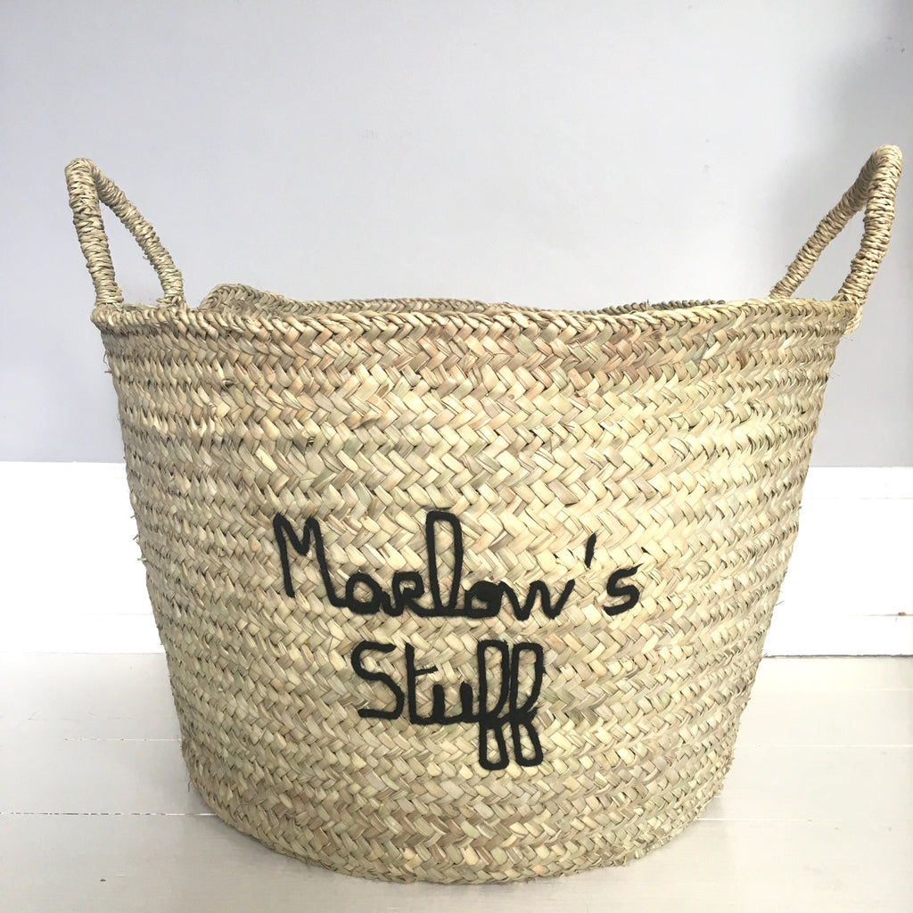 Personalised Embroidered Extra Large Basket