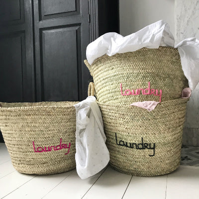Embroidered 'Laundry' Basket