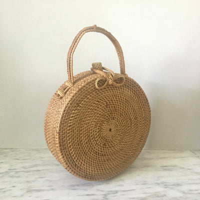 Circular Short Handle Box Bag (END OF LINE)