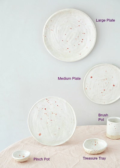 edit58 + Kana Pink Splatter Ceramics