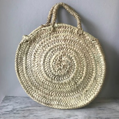 Mini Circular Woven Basket (end of line)