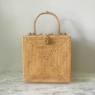 Square Short Handle Box Bag (END OF LINE)