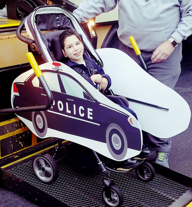 Police Car Wheelchair Costume Child's