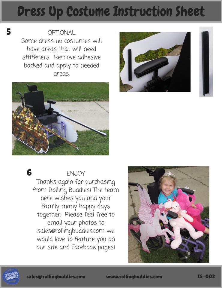 Princess Carriage Wheelchair Costume Child's
