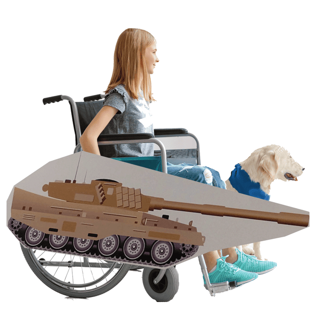 American Tank Wheelchair Costume Child's