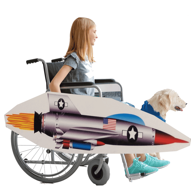 American Fighter Jet Wheelchair Costume Child's