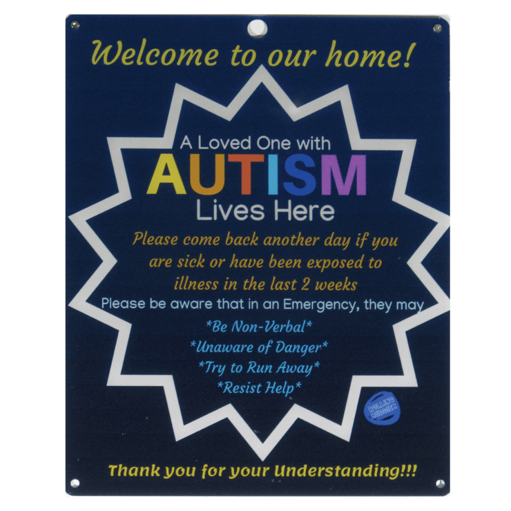 Bundle Dark Blue Autism Plastic Door and Car Plastic Sign