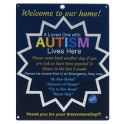 Ultimate Bundle Keychain, Dark Blue Autism Plastic Door Sign and Plastic Car Sign
