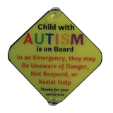 Autism Child Car Sign