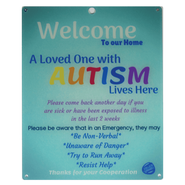 Ultimate Bundle Keychain, Light Blue Autism Plastic Door Sign and Plastic Car Sign