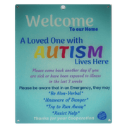 Bundle Light Blue Autism Plastic Door and Plastic Car Sign