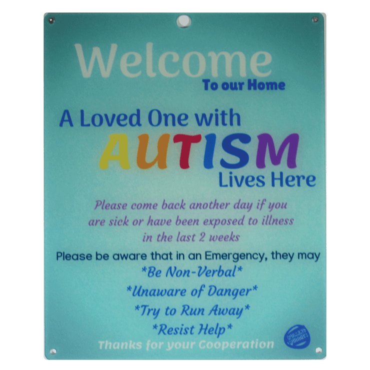Autism Child Door Sign - Light Blue