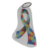 Autism Awareness Ribbon Keychain