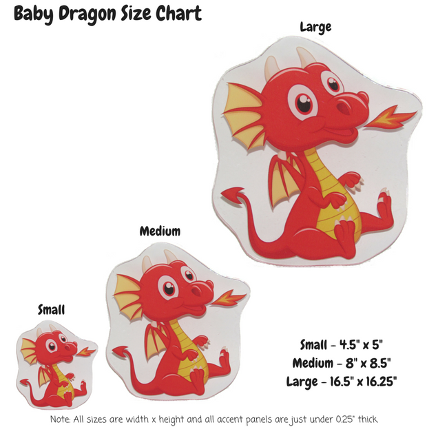 Baby Dragon Decoration Panel