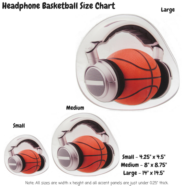 Headphone Basketball Decoration Panel
