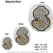 Bling Money Symbol Decoration Panel