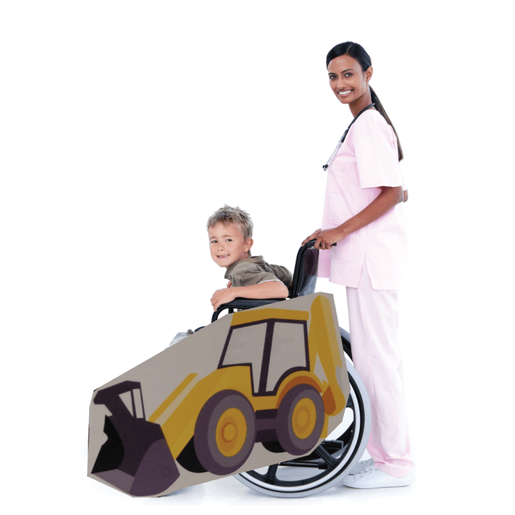 Backhoe Wheelchair Costume Child's