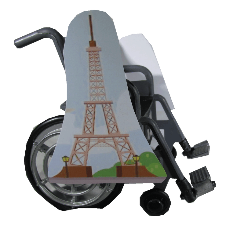 Cartoon Eiffel Tower Wheelchair Costume Child's