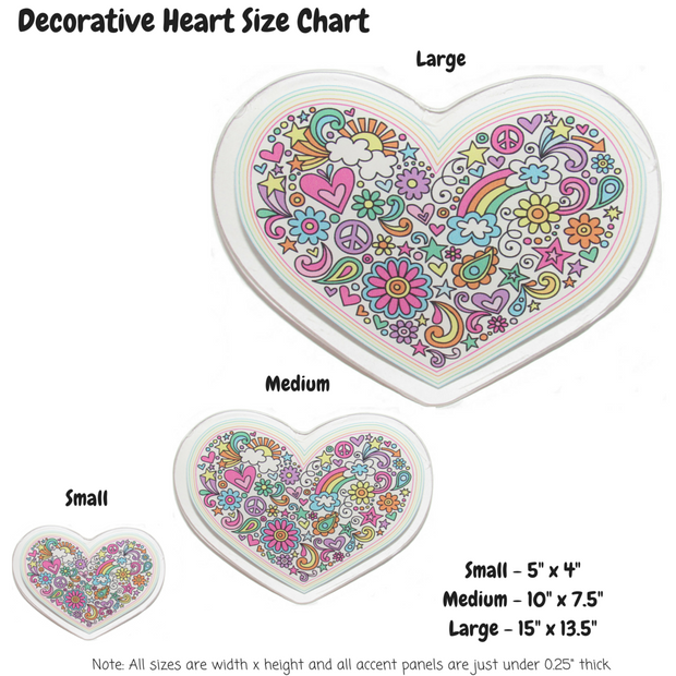 Decorative Heart Decoration Panel