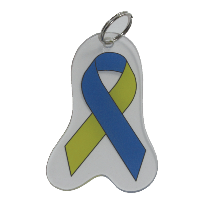 Down Syndrome Awareness Ribbon Keychain