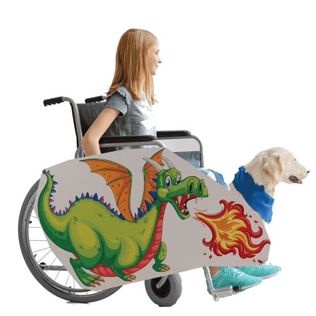 Green Fire Dragon Wheelchair Costume Child's