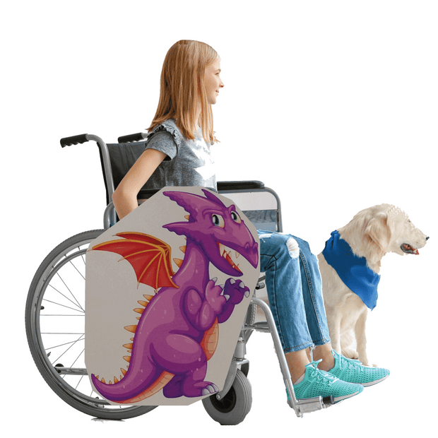 Purple Dragon Wheelchair Costume Child's