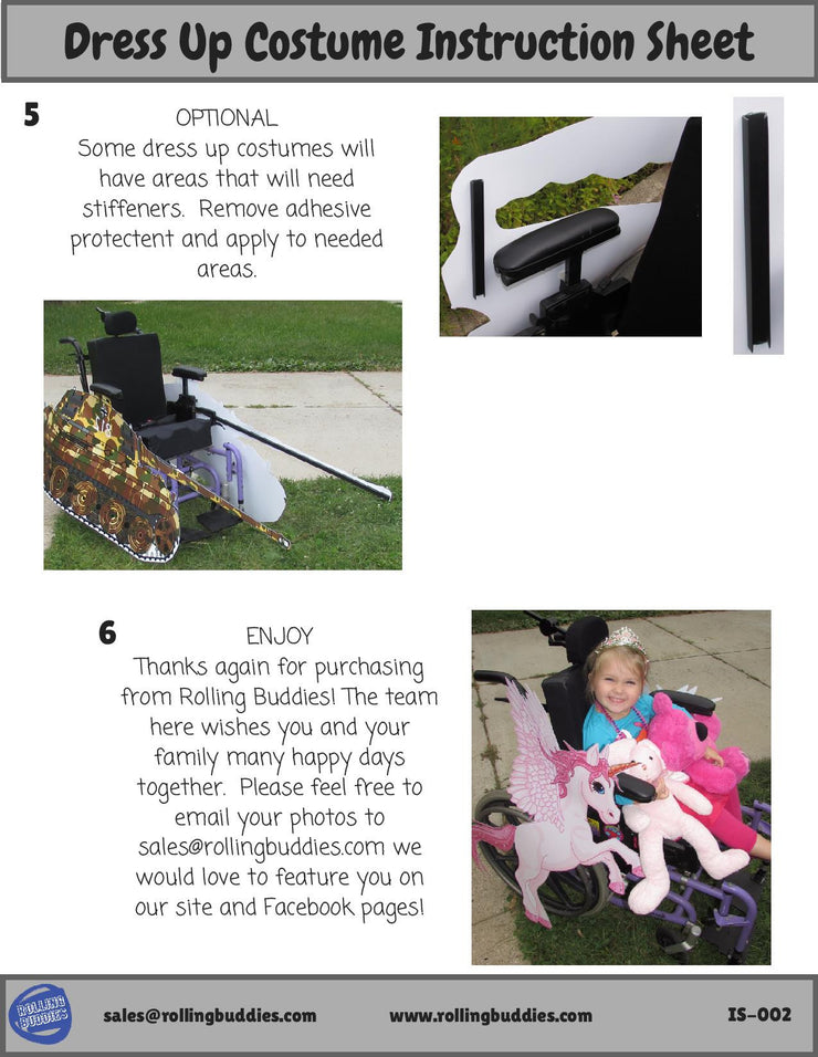 OS Cookie Wheelchair Costume Child's