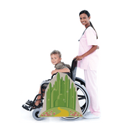 Emerald City and Yellow Brick Road Wheelchair Costume Child's