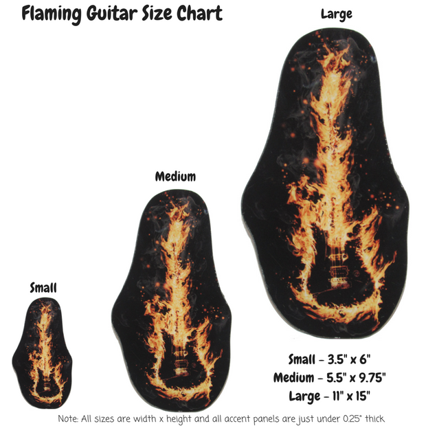 Flaming Guitar Decoration Panel