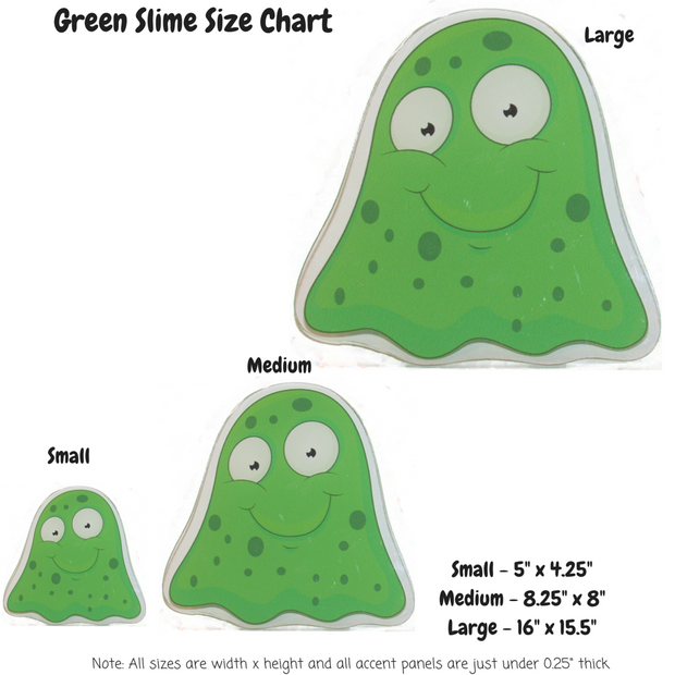 Green Slime Monster Decoration Panels