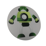 Green Robot Wheelchair Decoration