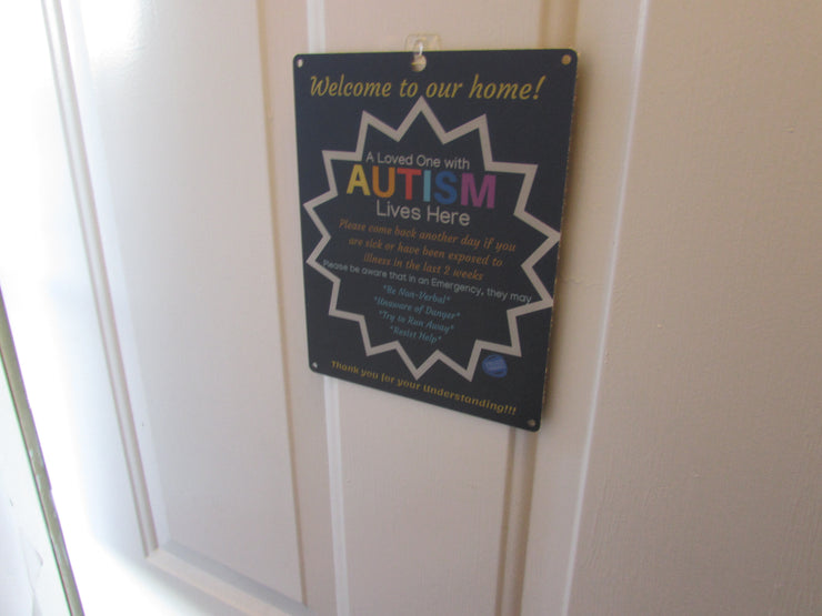 Autism Child Door Sign - Blue